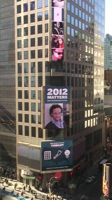 Thibaut Crochet sur Times Square